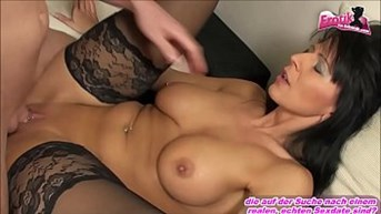 Teen boy fucking mature german milf and she is very happy