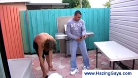 Gay gets caught wanking outdoors