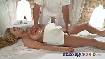 massage rooms two young girls get a big cock deep in their tight holes