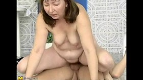 mature amateur fucks young guy by the pool