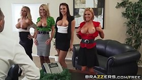 brazzers - big tits at work - office 4-play christmas edition scene starring chanel preston krissy