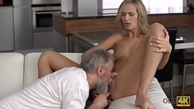 old4k. bearded old gentleman and young young start new day with sex