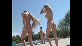 nudist beach shows off two gorgeous naked youngs