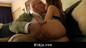 oldman satisfy his young hot wife