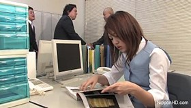 japanese girl gets fucked in the office