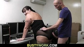 interview leads to sex for this busty ba