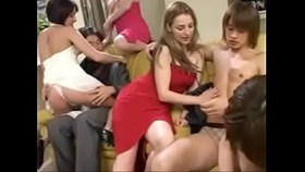 3 white girls ampamp 1 asian girl having fun with 2 asian guys