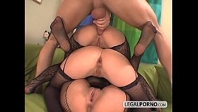 3 euro girls getting hot in fishnet stockings ts-7-02