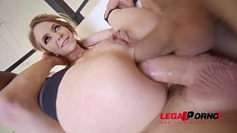 exxxtra goregeous angel smalls folded in half choked and dpamped!