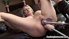 nikki west gets her holes drilled by a having sex machine