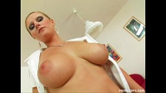 prime cups the pussy of the major nurse opens for the cock