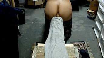Anal play in the basement