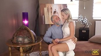 OLD4K. Angel-face sucks old dick and gets it in her sensitive sissy