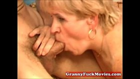 amateur granny sucking young dick