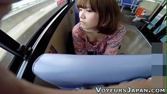 asian fingered on bus