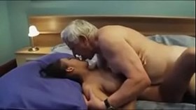 8502970 old man calls a sexy young escort girl with nice boobs cre