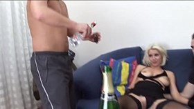 blonde get threesome