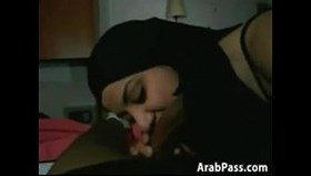 arab girl gives a blowjob point of view