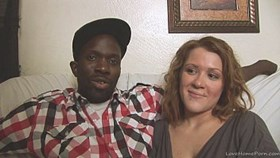 interracial homemade couple shows their skills on came