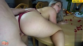 fucked by german bbw during a romantic dinner