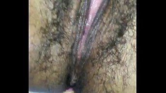 Sucking on that sweet full of hair pussy