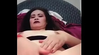 Gorgeous shaved pussy played with