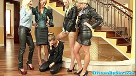 lesbos humiliate rich slut with goldenshow