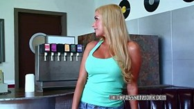 busty blonde mariah madysinn is taking dick from a cowork