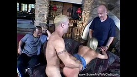 skinny swinger housewife fucks another man in front of husba