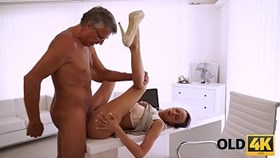 OLD4K. She canampt control herself with her older boss