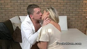 blonde milf having sex after glass of wi