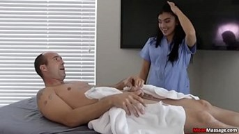 horny men cock gets rough during massage.