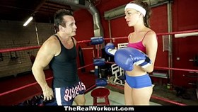 therealworkout - hot brunette fucked in the gym