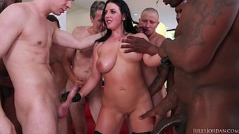 angela whiteamps biggest and hardest gangbang ever