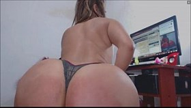 twerking big fat oiled bubble butt on anal to