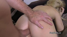 blonde gal in anal action on casti