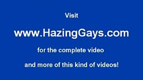 Straight boy gets fingered during hazing