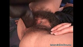 gorgeous brunette skank with hairy pus