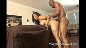 Hot Ebony Screwed In Her Ass And Got A Facial C