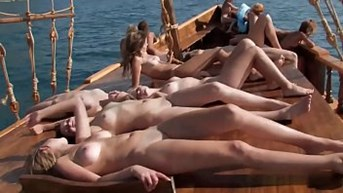 naked Teens on Boat