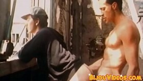 Old school homo breeding intensely after sensual blowjob