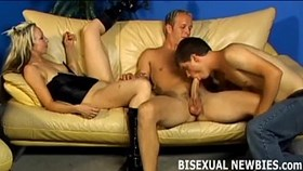 go with the flow and join our bisexual threesome