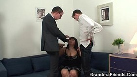 big tits mature threesome sex