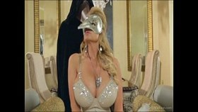 busty beauty fucked at a masquerade ba