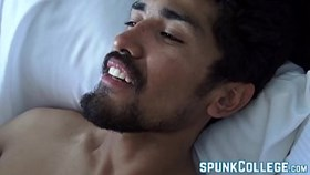 Cute hairy homosexuals enjoy a raw ass fucking session