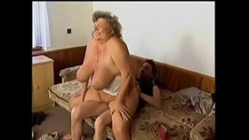 couch fuck with granny