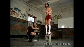 schoolgirl gets a bdsm punishment!