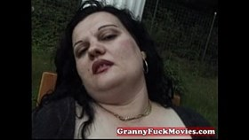 dirty fat granny toying with her snatch